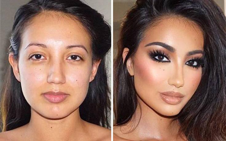 Το εντυπωσιακό πριν και μετά του μακιγιάζ – Newsbeast