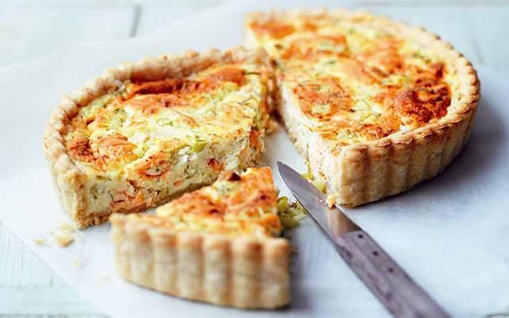 Τάρτα με τυρί και σολομό – Newsbeast